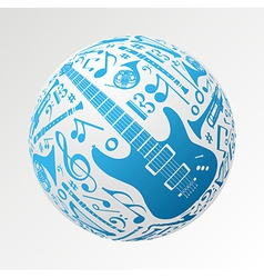 Music instruments in bauble shape vector