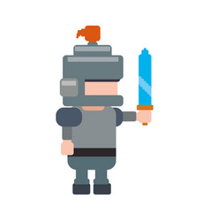 Warrior pixelated videogame vector