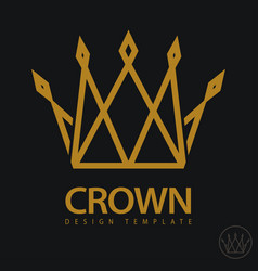 crown royal icon vector image