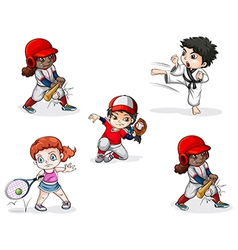 Different sports activities vector image