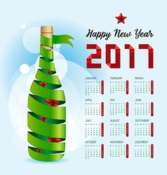 2017 Calendar happy new year design Abstract vector image