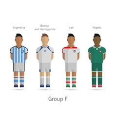Football teams group f - argentina bosnia and vector