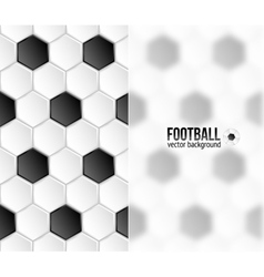 Geometric football hexagonal tiles background with vector