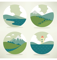 Landscape icons vector