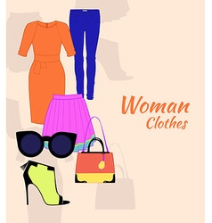 Woman clothing set vector