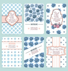 Save the date document template vector