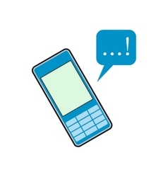 Mobile chatting flat icon vector