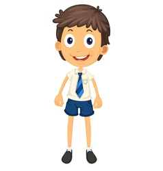 a boy in school uniform vector image vector image