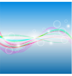abstract background - colorful waves and lines on vector image
