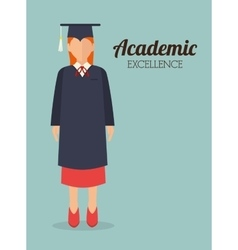 Academic education design vector image vector image