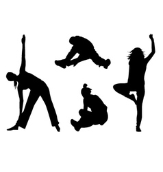 aerobic silhouette vector image