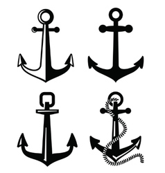 Black anchor vector