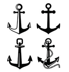 black anchor vector image vector image