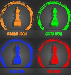 Chess bishop icon fashionable modern style in the vector