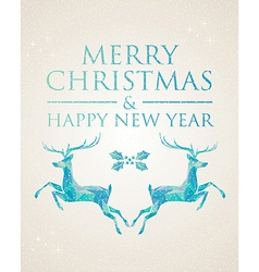 Christmas greeting card geometric deer vector image vector image