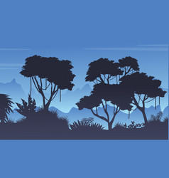 Collection of tree on the forst landscape vector