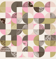creative geometric and handdrawn seamless pattern vector image vector image
