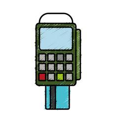 Dataphone device icon vector