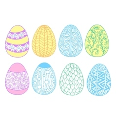 Easter eggs set - vector image