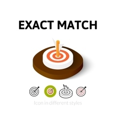 Exact match icon in different style vector