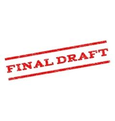 Final draft watermark stamp vector