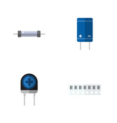 flat icon appliance set of memory transistor vector image vector image