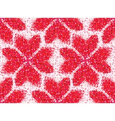 Flower seamless love pattern of geometric heart vector image vector image
