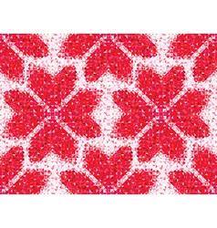 Flower seamless love pattern of geometric heart vector image