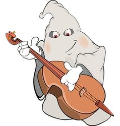 ghost-musician cartoon vector image vector image