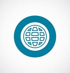Globe icon bold blue circle border vector
