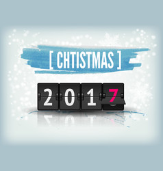 Happy New Year blue background with snowflakes and vector image