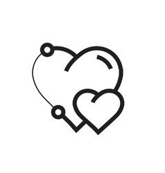 Icon heart pen tool style design vector