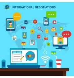 International negotiations vector