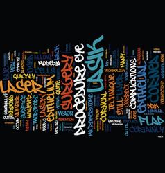 Lasik eye surgery text background word cloud vector