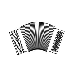 monochrome silhouette of accordion icon vector image