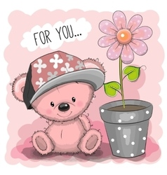 Pink Teddy Bear vector image