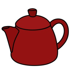 Red ceramic pot vector
