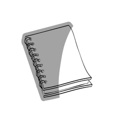 School notebook draw vector image vector image
