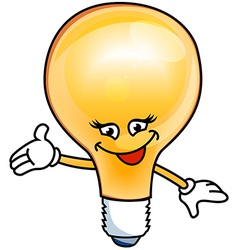 Smile bulb electric vector image vector image