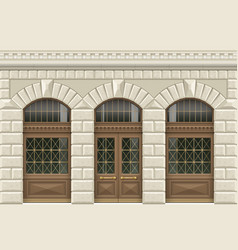 stone facade of the establishment vector image vector image