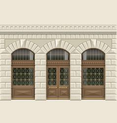 Stone facade of the establishment vector