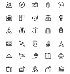 Tourism Line Icons 1 vector image vector image