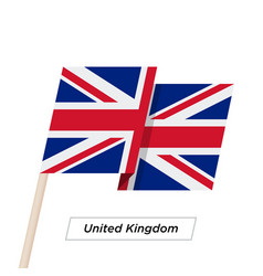 United kingdom ribbon waving flag isolated on vector