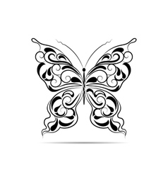 Vintage black pattern in a shape of a butterfly vector