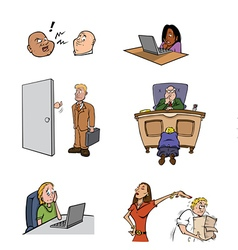workplace stress vector image