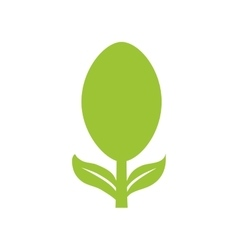 Cutlery leaf product healthy icon graphic vector