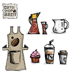 Coffee drawing objects b vector
