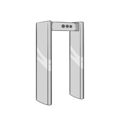 Check on metal detector icon vector