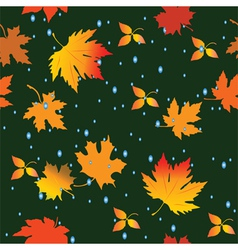 Seamless leaves vector