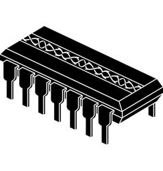 stencil of chip with pattern vector image